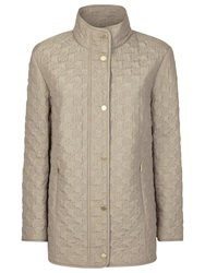 Windsmoor Quilted Dogtooth Raincoat Oyster