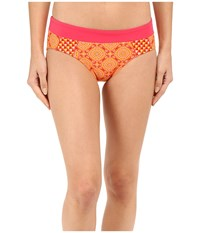 Prana Zuri Bottom Neon Orange Sundial Women's Swimwear Yellow