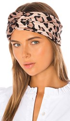 Eugenia Kim Malia Headband In Brown. Leopard