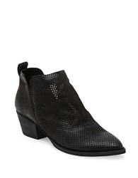 Dolce Vita Sony Perforated Nubuck Booties Black