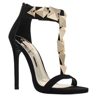 Carvela Gain T Bar Stiletto Sandals Black