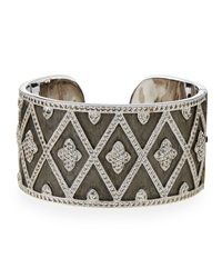 Jude Frances Michelle Wide Flower Cuff Judefrances Jewelry