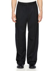 Burberry Wide Leg Dress Pants Navy Black