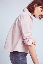 Anthropologie Chino Swing Jacket Pink