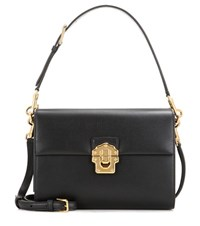 Dolce And Gabbana Lucia Leather Cross Body Bag Black