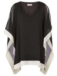 Windsmoor Chiffon Tunic Top Black Oyster