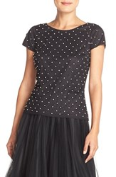 Women's Adrianna Papell Beaded Mesh Top