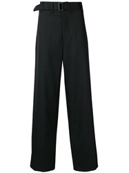 Christophe Lemaire Wide Trousers Black