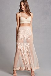Forever 21 Kikiriki Sheer Maxi Skirt Set