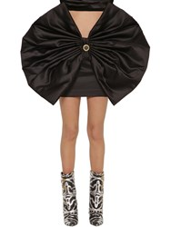 Fausto Puglisi Satin Mini Skirt W Bows Black