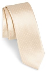 The Tie Bar Dot Silk Light Champagne