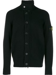 Stone Island Compass Badge Cardigan Black