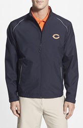 Cutter Buck 'Chicago Bears Beacon' Weathertec Wind And Water Resistant Jacket Big And Tall Navy Blue