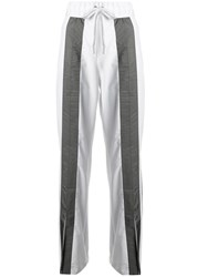 No Ka' Oi Front Stripe Track Pants White