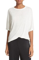 Vince Women's Dolman Sleeve Tee Heather White