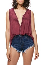 Free People Women's Hudson Tank Wine