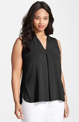 Plus Size Women's Tart 'Aryn' Sleeveless V Neck Jersey Top Black