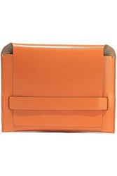 Iris And Ink Woman Sigfrid Leather Clutch Tan