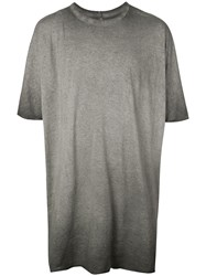 Boris Bidjan Saberi Faded Effect T Shirt Grey