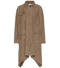 Valentino Cotton And Linen Coat Green