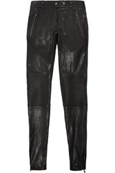 Belstaff Telford Leather Skinny Pants Black