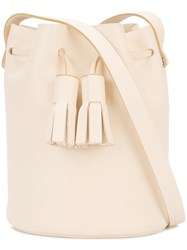 Building Block Tassel Detail Bucket Bag Women Leather One Size Nude Neutrals