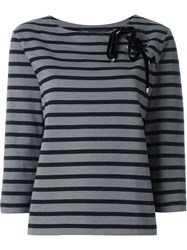 Marc By Marc Jacobs Lace Up Detail Three Quarter Length Sleeve T Shirt