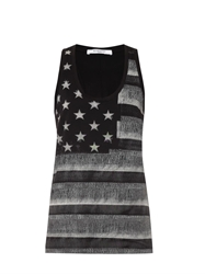 Givenchy American Flag Print Tank Top
