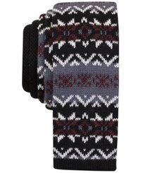 Bar Iii Men's Hagney Knit Slim Tie Only At Macy's Burgundy