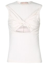Lilly Sarti Central Twist Top White