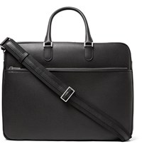Valextra Soft Avietta Pilotina Pebble Grain Leather Briefcase Black