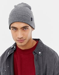Selected Homme Plain Beanie Grey