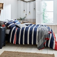 Joules Galley Grade Stripe Duvet Cover Navy Blue