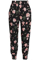 Mother Of Pearl Floral Print Twill Tapered Pants Midnight Blue