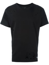 Les Artists Art Ists Cut Out Tisci T Shirt Black