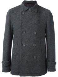Herno Double Breasted Coat Grey