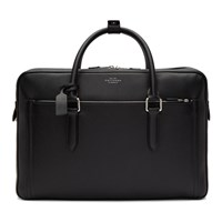 Smythson Black Burlington 24 Hour Briefcase