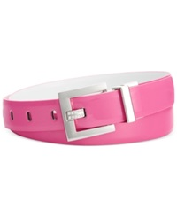 Inc International Concepts Jeweled Prong Reversible Belt Pink White