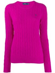 Polo Ralph Lauren Classic Cable Knit Jumper Pink