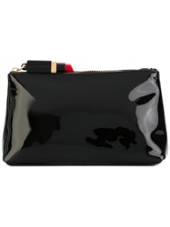 Lulu Guinness Medium T Seam Beauty Case Women Patent Leather One Size Black