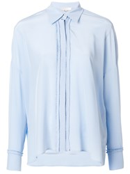 Mantu Frilled Placket Shirt Blue