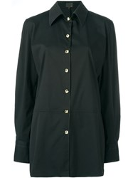 Fendi Vintage Logo Button Shirt Black