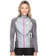 Pearl Izumi W Elite Barrier Convertible Cycling Jacket Monument Smoked Women's Workout Gray