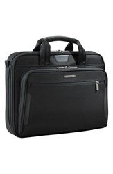 Briggs And Riley Men's 'Medium Slim' Ballistic Nylon Briefcase Black