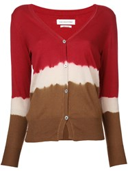 Etoile Isabel Marant Tie Dye Cardigan Women Cotton Cashmere 42 Red