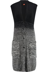 Missoni Degrade Ribbed Knit Gilet Black
