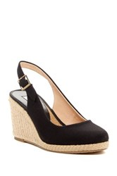 Dune Karley Espadrille Wedge Pump Black