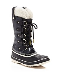 Sorel Joan Of Arctic Holiday Shearling Cold Weather Boots Black