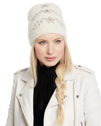 Jennifer Behr Bowie Lightning Bolts And Stars Embellished Beanie Hat Snow