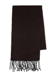 Topman Red Burgundy And Black Patterned Skinny Woven Scarf